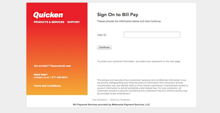 quicken bill pay