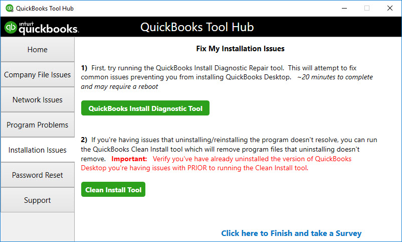 Performing Clean Installation of QB