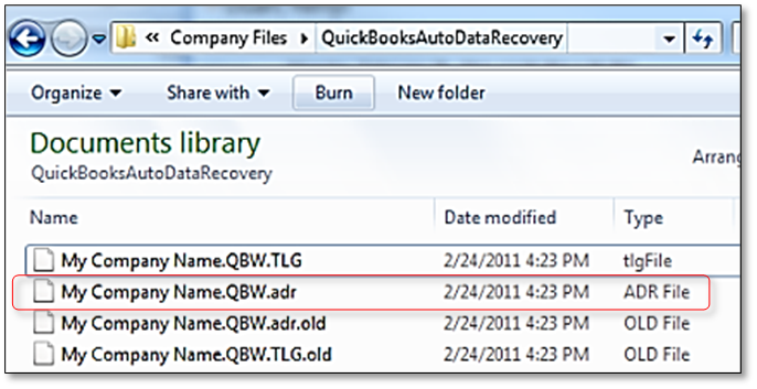 Changing the.ADR File's Name
