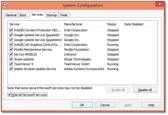 Restarting Windows using Selected Apps Enabled to fix Quickbooks Update Error 15223