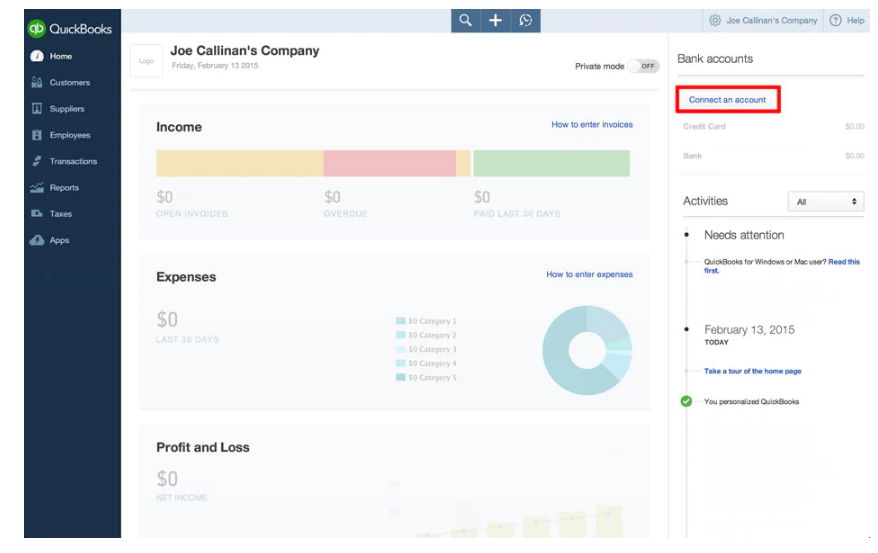 Linking Your Bank Account With Quickbooks