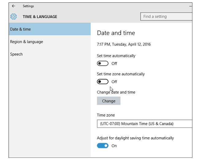 Verifying the Settings of Date & Time