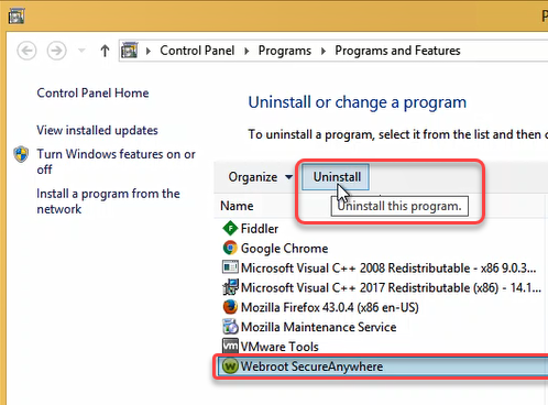 Checking/Removing WebRoot Spyware Sweeper