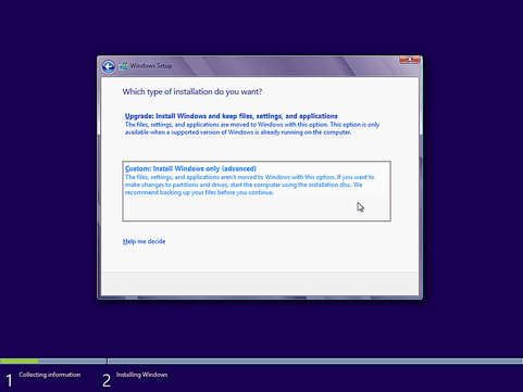 Clean Install the Windows