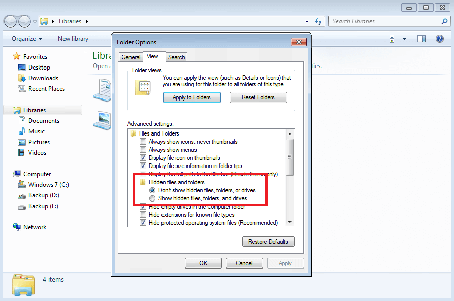 Checking the Hidden .ND and .TLG Files to fix Quickbooks Error 6073